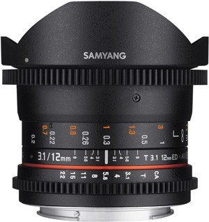 SAMYANG 12 mm T3,1 VDSLR ED AS NCS Fisheye pro Canon EF