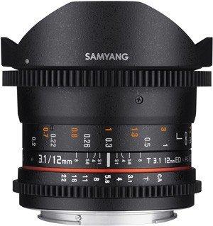 SAMYANG 12 mm T3,1 VDSLR ED AS NCS Fisheye pro Sony E