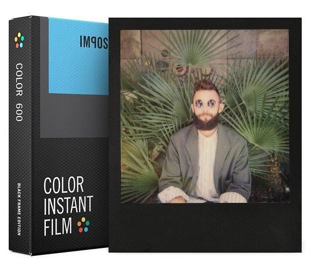 IMPOSSIBLE barevný film pro Polaroid 600/8ks Black Frame