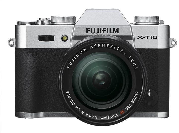 FUJIFILM X-T10 stříbrný + XF 18-55 mm + Lexar SDHC 32 GB