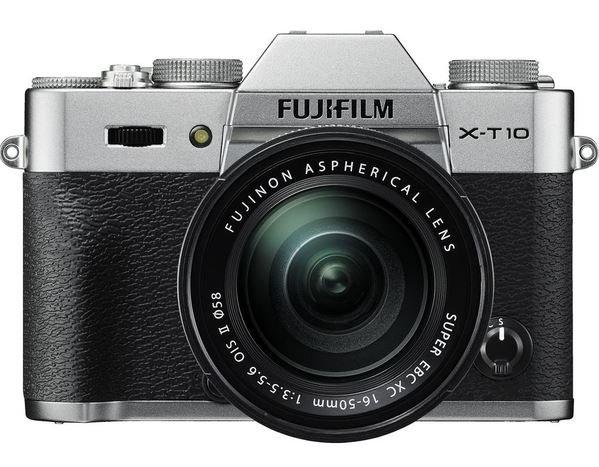 FUJIFILM X-T10 stříbrný + XC16-50 + XC50-230 + SDHC 32GB + získejte zpět 2800 Kč