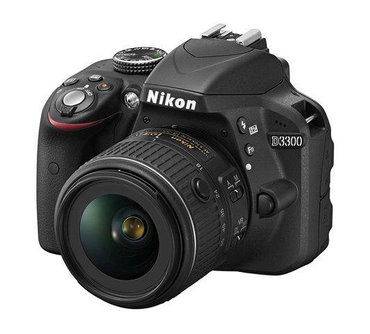 NIKON D3300 + 18-55 mm II AF-P bez VR + SDHC 16 GB