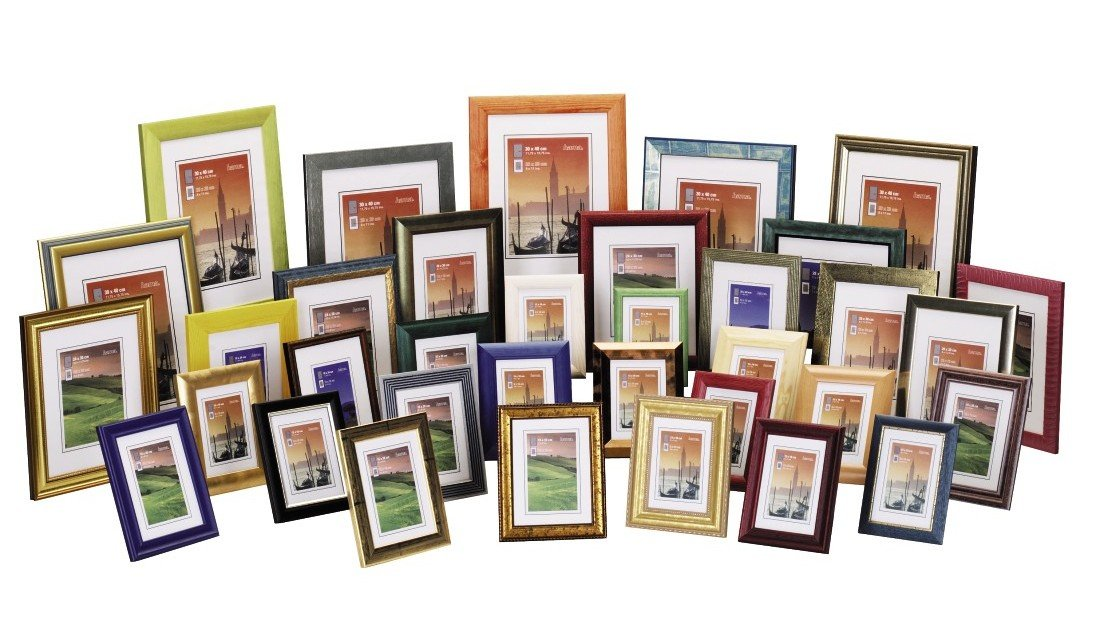 HAMA TURÍN rám 40x60 dřevo, mix barev
