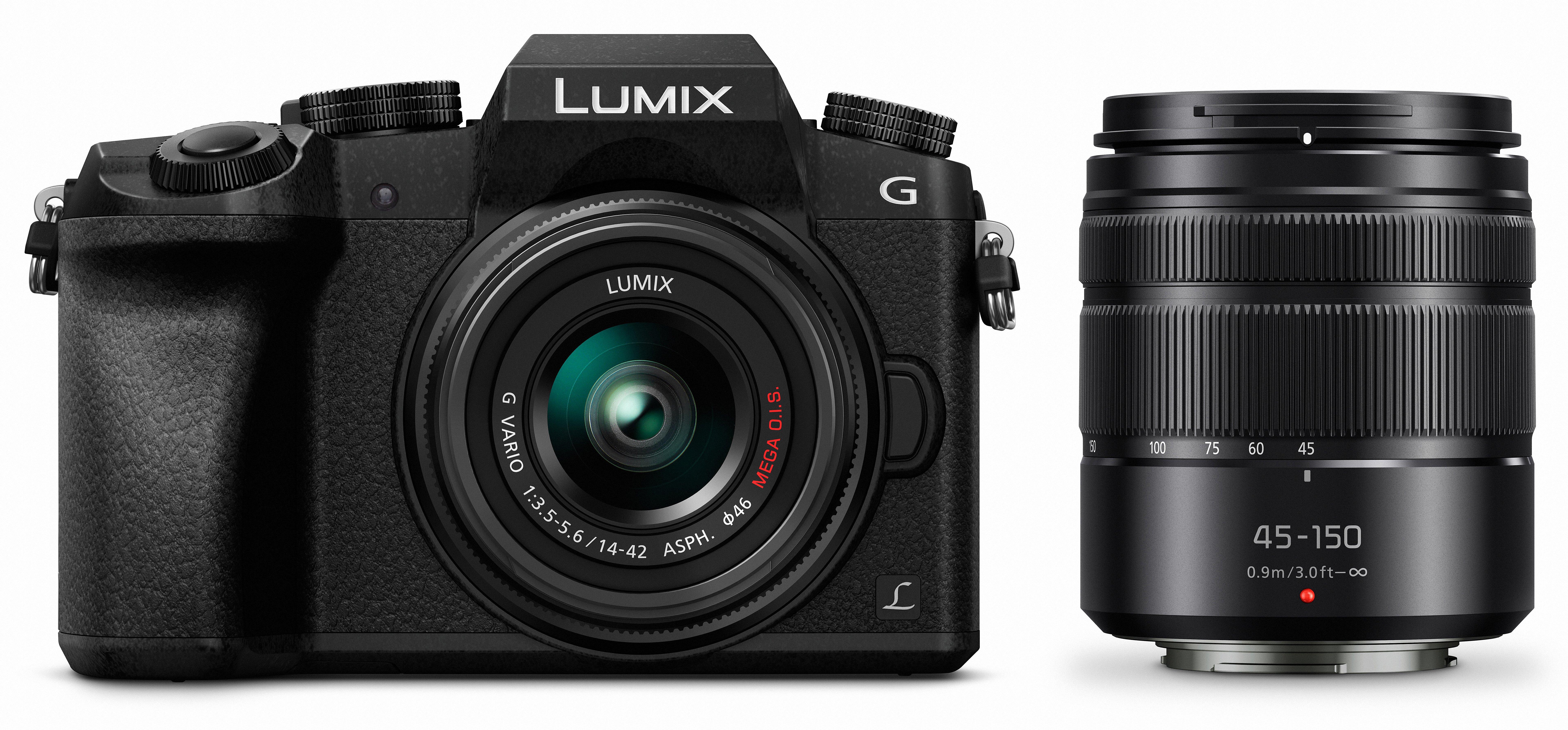 PANASONIC Lumix DMC-G7 + 14-42 mm + 45-150 mm černý