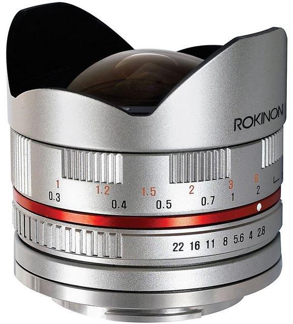 SAMYANG 8 mm f/2,8 UMC Fish-eye pro Fujifilm X stříbrný