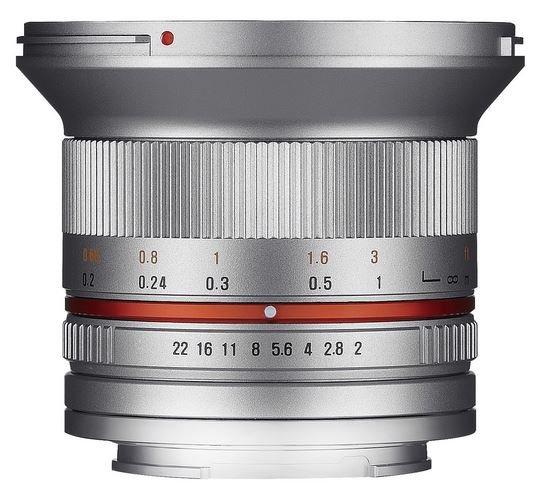 SAMYANG 12 mm f/2 NCS CS pro Sony E (APS-C) stříbrný