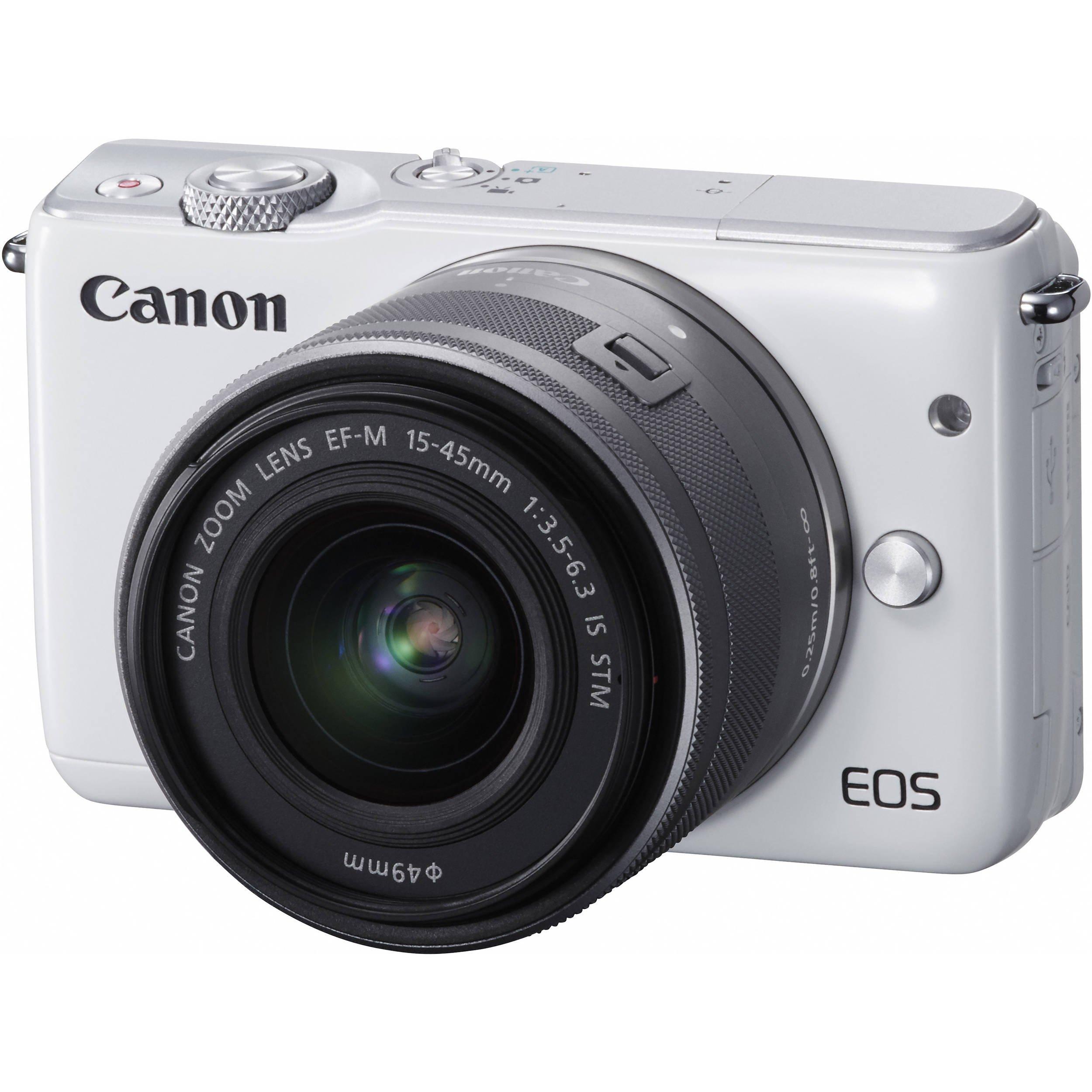 CANON EOS M10 + 15-45 mm STM bílý + získejte zpět 1000 Kč