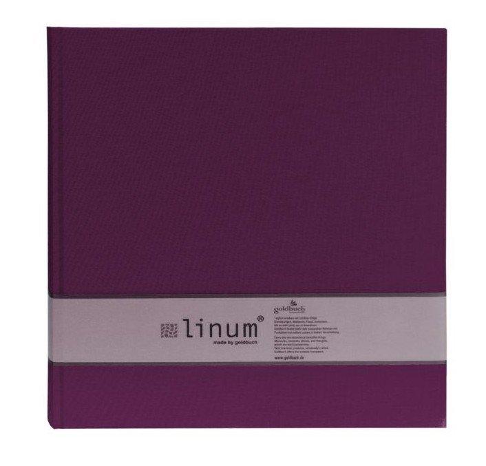 GOLDBUCH LINUM klasické/60 stran, 30x31, sv.zelená, tm.zelená, fialová