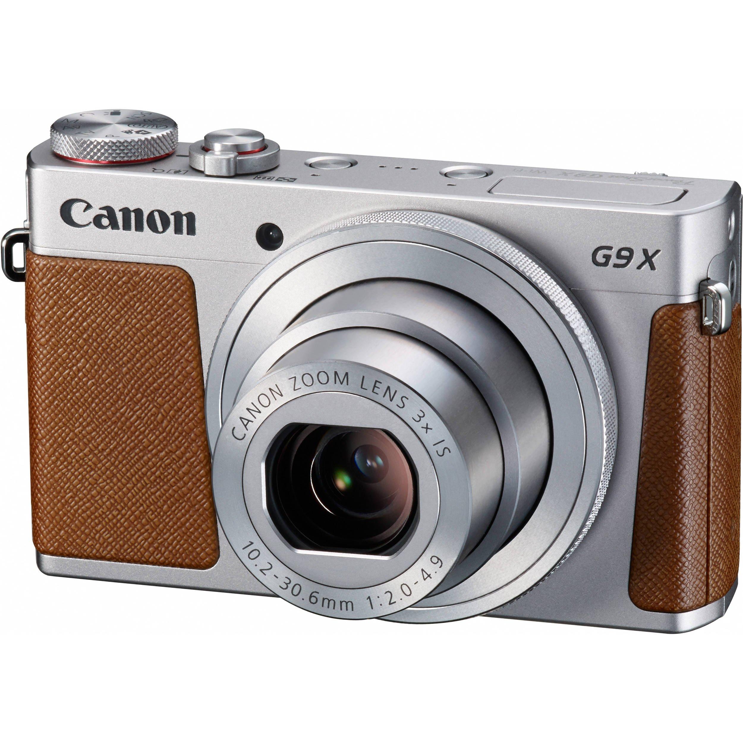 CANON PowerShot G9 X stříbrný + SDHC 16GB + získejte zpět 1000Kč