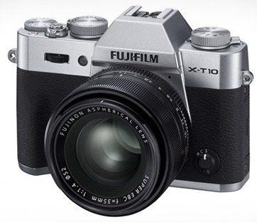 FUJIFILM X-T10 stříbrný + XF 18-135 mm + získejte zpět 2800 Kč