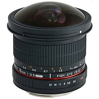 SAMYANG 8 mm f/3,5 UMC Fish-eye CS II pro Sony E (APS-C)