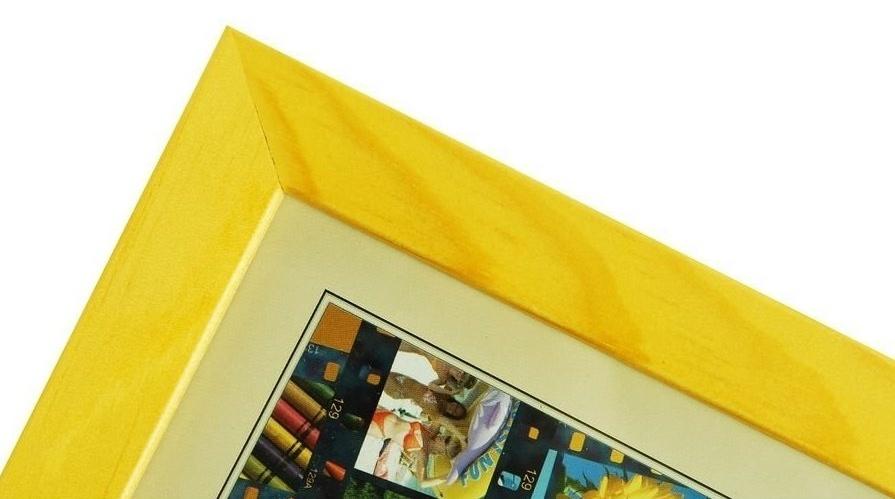 CODEX SLS rám 9x13 dřevo, žlutý