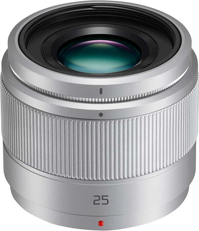 PANASONIC Lumix G 25mm f/1,7 ASPH - stříbrný