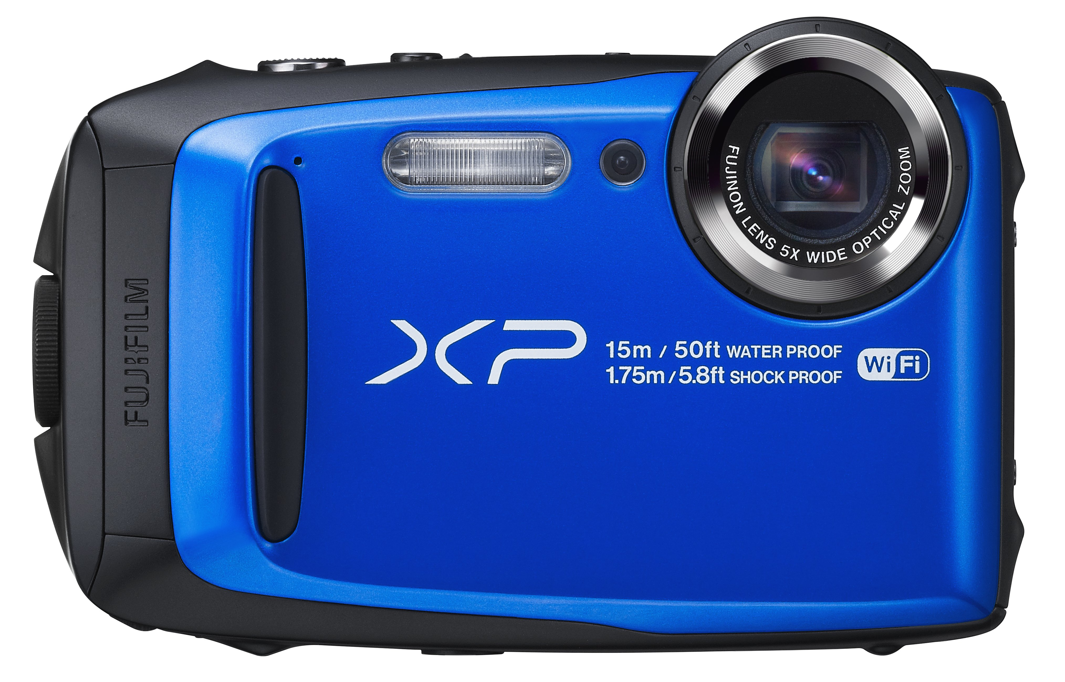 FUJIFILM FinePix XP90 modrý + Fujifilm plovoucí řemen zdarma