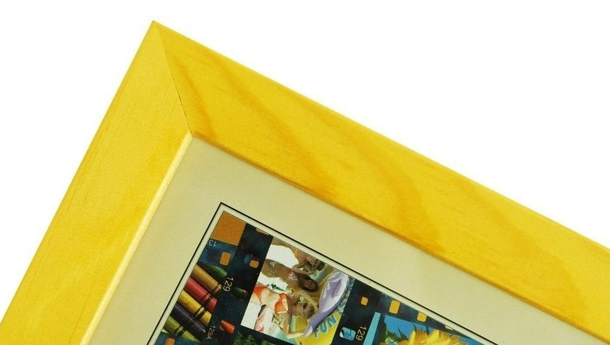 CODEX SLS rám 30x40 dřevo, žlutá 005