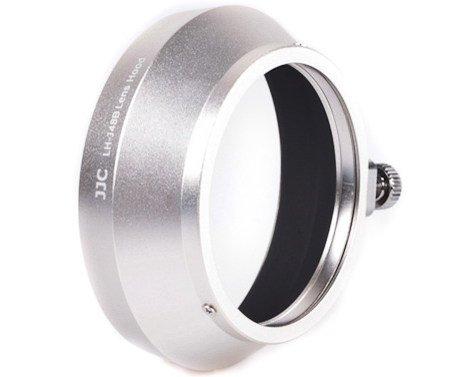 JJC sluneční clona LH-J48B stříbrná pro objektiv M-Zuiko 17 mm/1,8