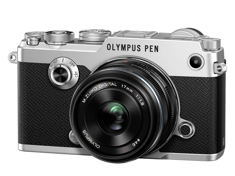 OLYMPUS PEN F stříbrný + 17mm f/1,8 černý +12-50mm f/3,5-6,3 EZ ZDARMA