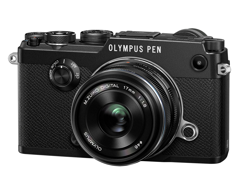 OLYMPUS PEN F černý + 17mm f/1,8 černý +12-50mm f/3,5-6,3 EZ ZDARMA