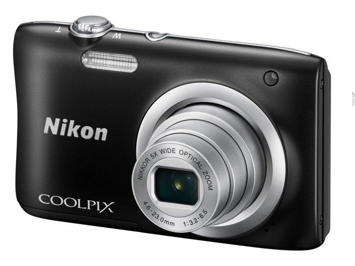 NIKON COOLPIX A100 černý + CAMLINK teleskopický držák pro selfie foto