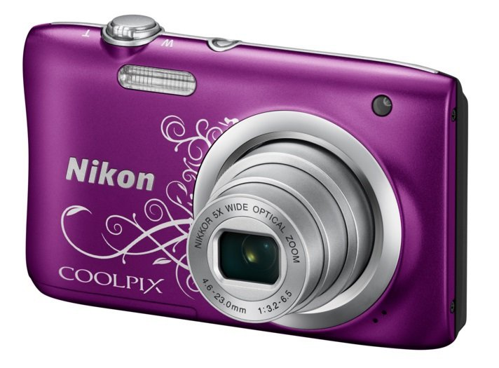NIKON COOLPIX A100 fialový LineArt + SDHC 8 GB zdarma