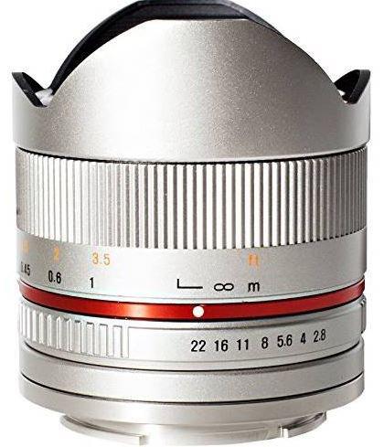 SAMYANG 8 mm f/2,8 UMC Fish-eye II pro Canon EOS M stříbrný
