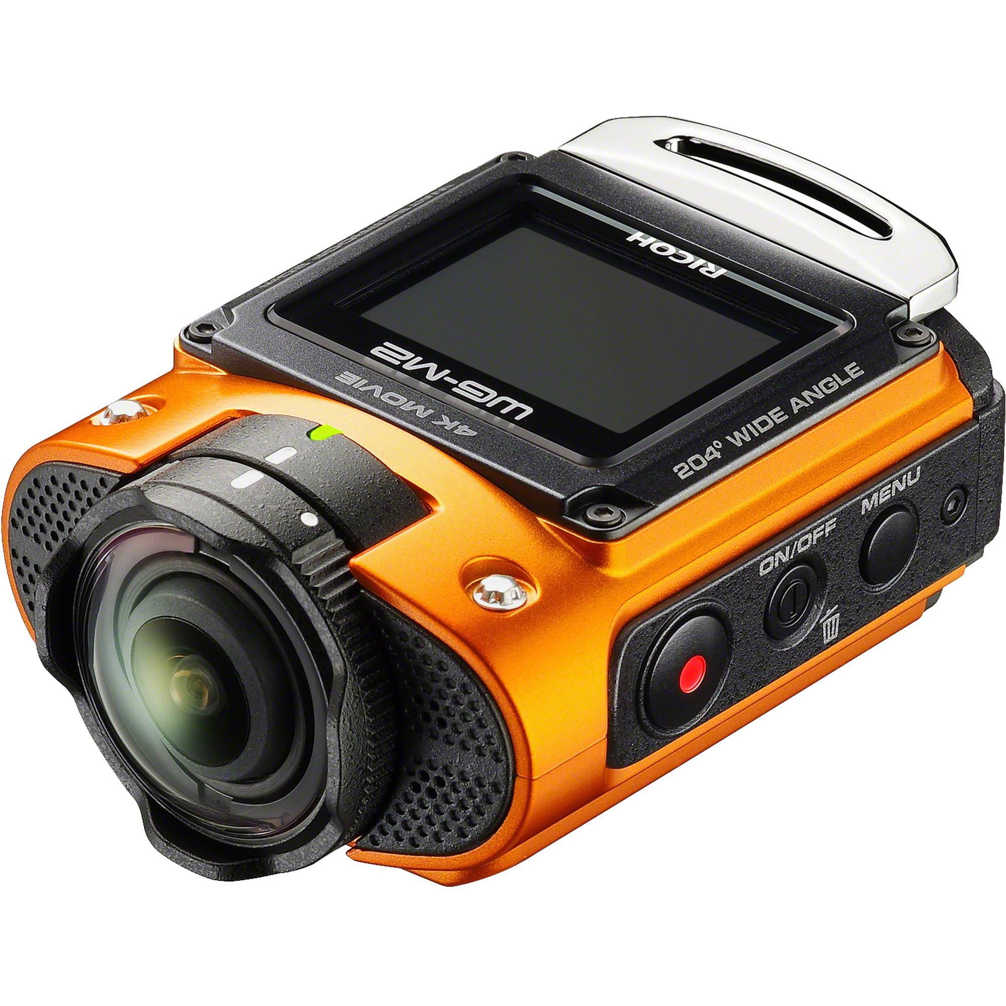 RICOH WG-M2 oranžový + CAMLINK teleskopický držák pro selfie