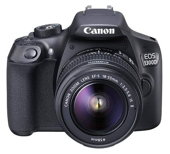 CANON EOS 1300D + EF-S 18-55 IS II + SDHC 16GB + Cashback 1000 Kč