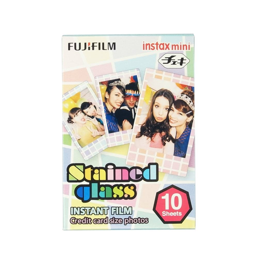 FUJIFILM INSTAX COLORFILM MINI GLOSSY STAINED GLASS