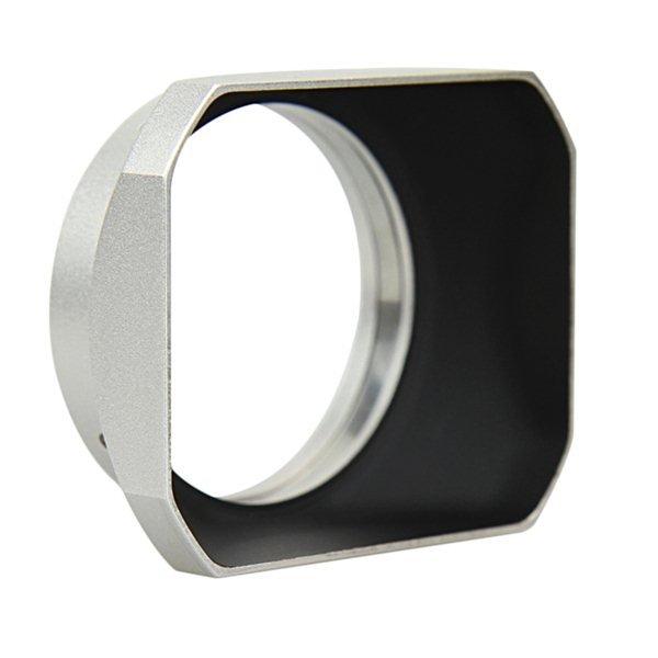 JJC sluneční clona LH-J48 (LH-48) stříbrná pro Olympus M-Zuiko 12 mm f/2