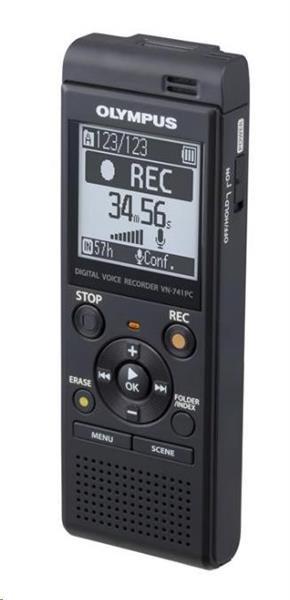 OLYMPUS diktafon VN-741 PC E černý