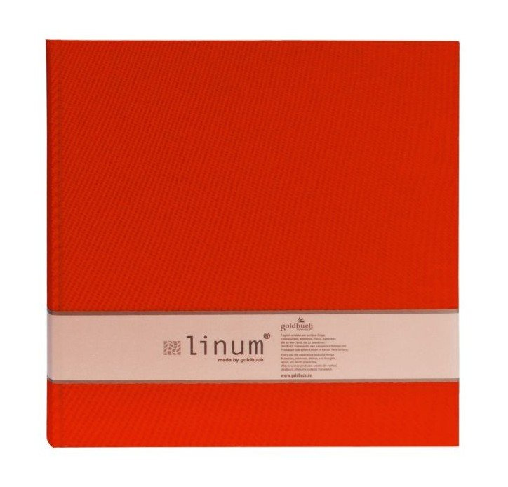 GOLDBUCH LINUM 10x15/200, červená, popisové pole