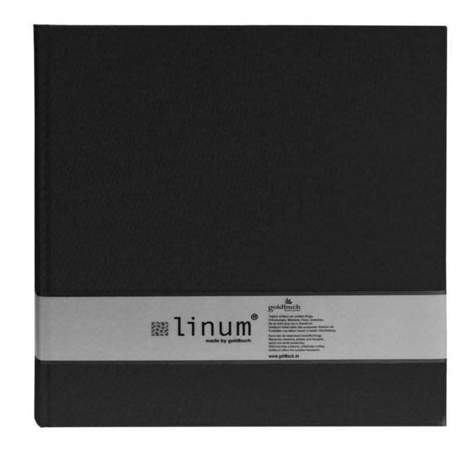 GOLDBUCH LINUM 10x15/200, černá, popisové pole