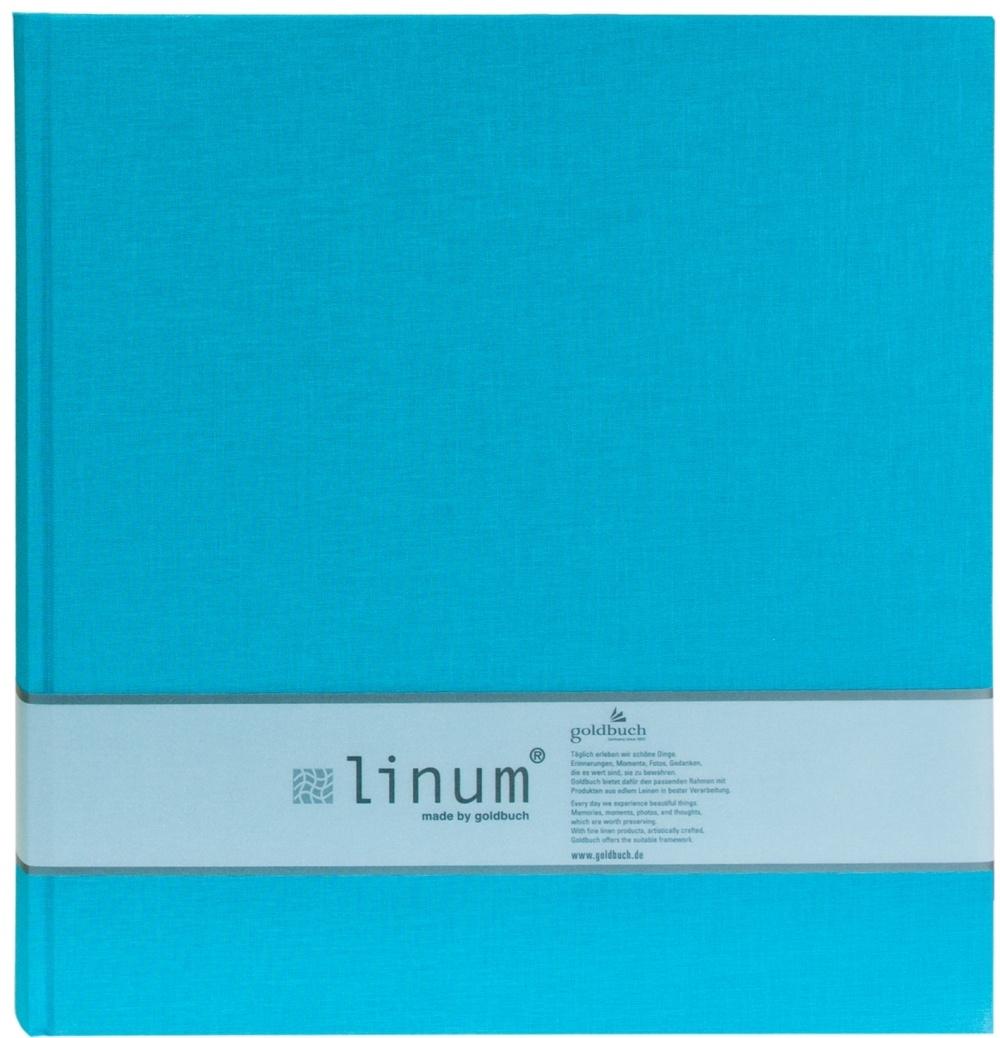 GOLDBUCH LINUM  klasické/80 stran, 30x31, tyrkysová