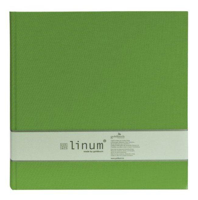 GOLDBUCH LINUM  klasické/80 stran, 30x31, zelená