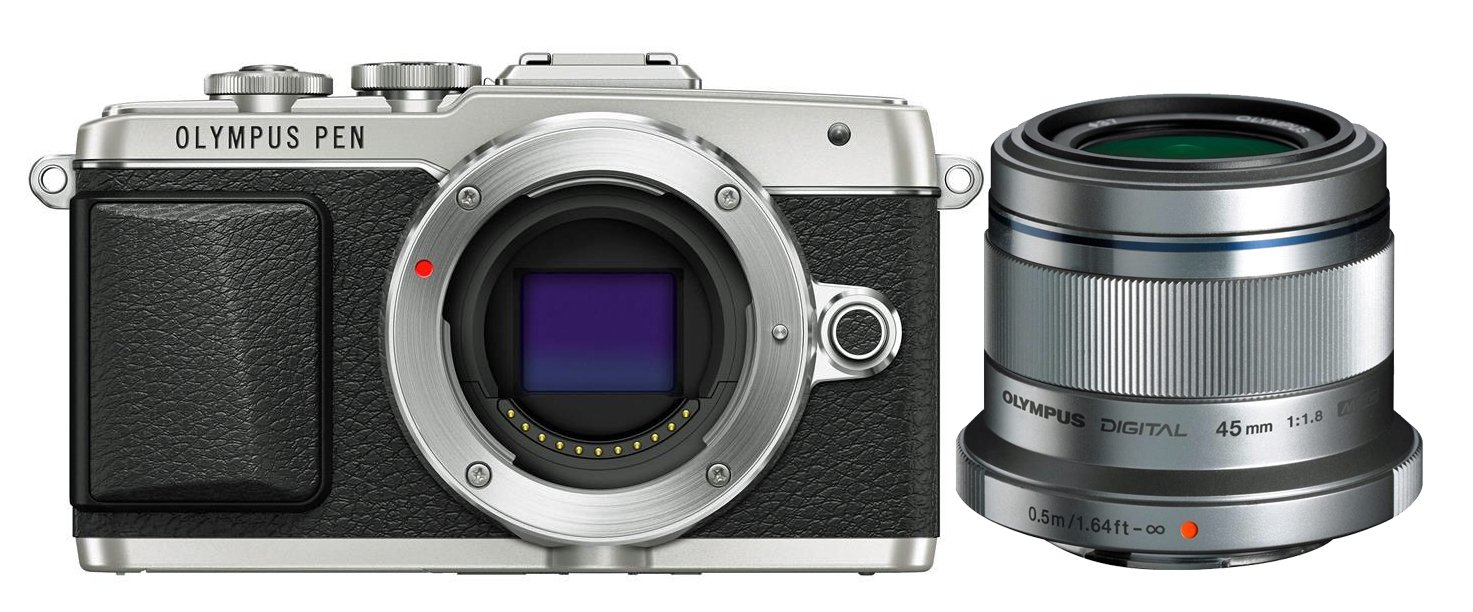 OLYMPUS E-PL7 + 45 mm Portret kit stříbrný
