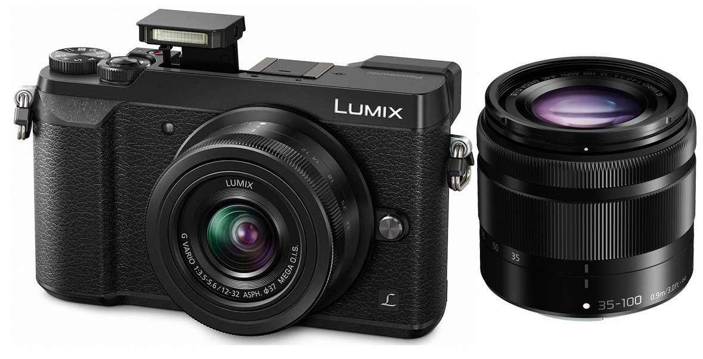 PANASONIC Lumix DMC-GX80 + 12-32mm + 35-100mm černý + stativ Vanguard Zdarma