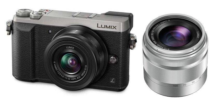 PANASONIC Lumix DMC-GX80 + 12-32mm + 35-100mm stříbrný + stativ Vanguard Zdarma