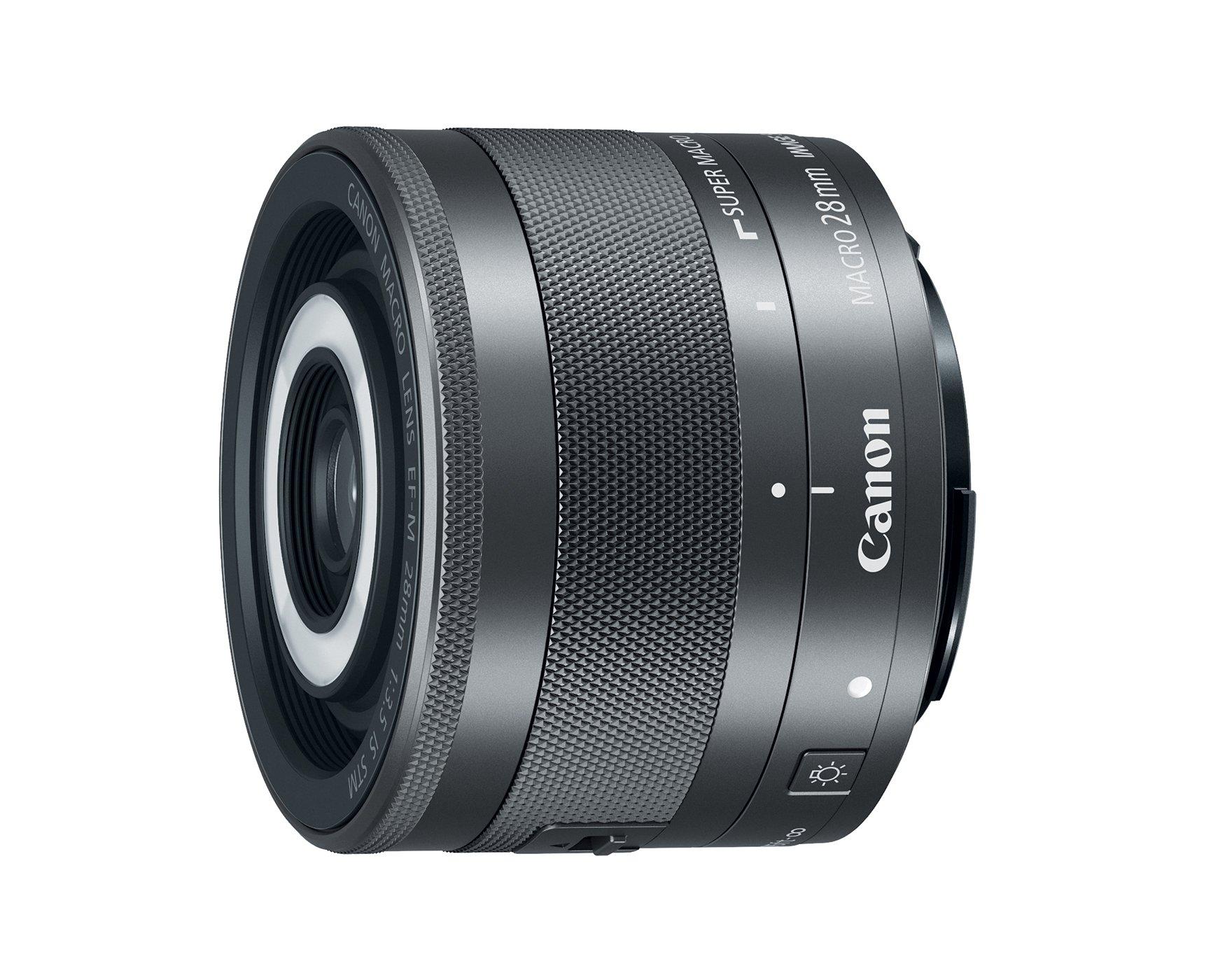 CANON EF-M 28 mm f/3,5 Macro IS STM s vestavěným světlem