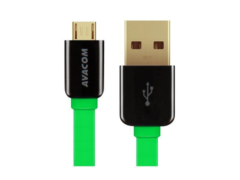 AVACOM kabel USB-Micro 120cm, zelený