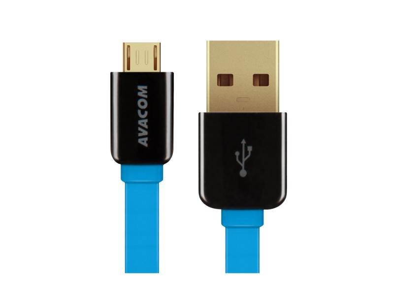 AVACOM kabel USB-Micro 40cm, modrý