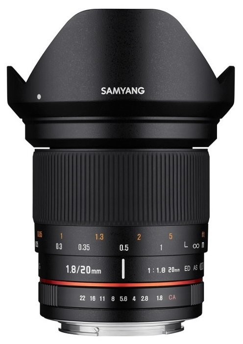 SAMYANG 20 mm f/1,8 ED AS UMC pro Sony A