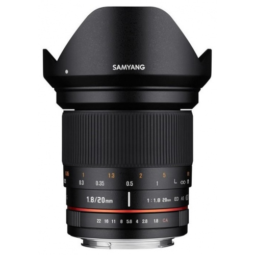 SAMYANG 20 mm f/1,8 ED AS UMC pro Sony A