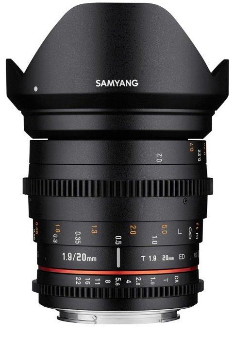 SAMYANG 20 mm T1,9 ED AS UMC pro Canon