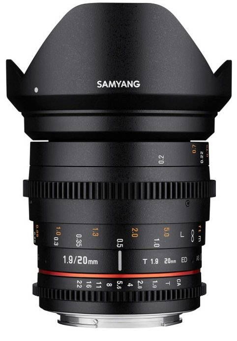 SAMYANG 20 mm T1,9 ED AS UMC pro Sony E