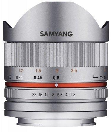 SAMYANG 8 mm f/2,8 UMC Fish-eye II pro Fujifilm X stříbrný