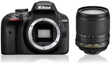 NIKON D3400 + 18-105 AF-S VR + Cashback 1350 Kč