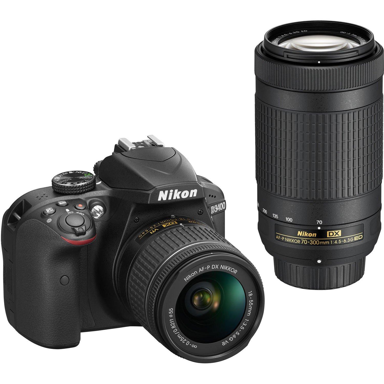 NIKON D3400 + 18-55 AF-P VR + 70-300 AF-P VR