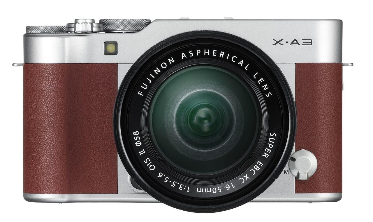 FUJIFILM X-A3 hnědý + XC 16-50 mm OIS II