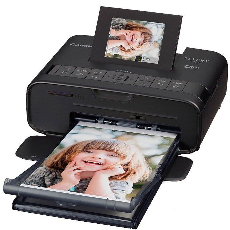 CANON SELPHY CP1200 Black + ZDARMA papíry RP-54 - termosublimační tiskárna Wi-Fi