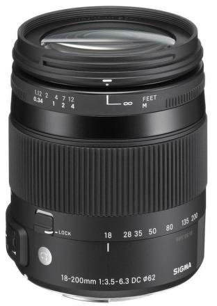 SIGMA 18-200 mm f/3,5-6,3 DC OS HSM Contemporary pro Sigmu